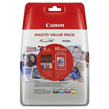 Canon CLI-551XL Foto Value Multipack Druckerpatrone 6443B006 - 4 Farbe