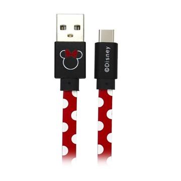 Disney USB-C Data und Ladekabel - 1m - Minnie / Rot