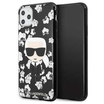 Karl Lagerfeld Flower iPhone 11 Pro Max TPU Hülle - Schwarz