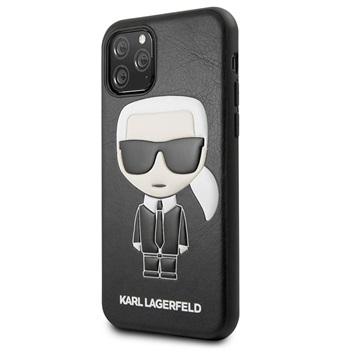 Karl Lagerfeld Ikonik iPhone 11 Pro Max Cover - Schwarz