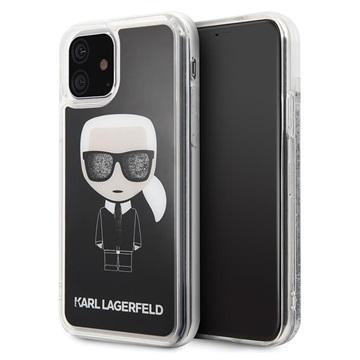 Karl Lagerfeld Ikonik Glitter iPhone 11 Hybrid Hülle - Schwarz
