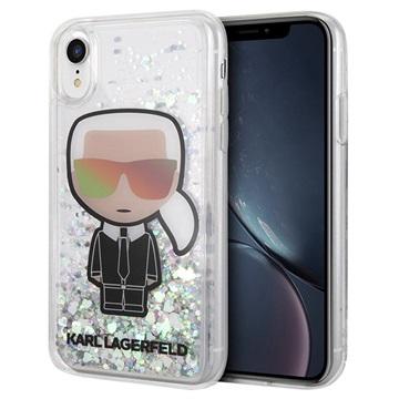 Karl Lagerfeld Ikonik Liquid Glitter iPhone XR Hülle - Durchsichtig