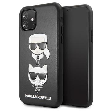 Karl Lagerfeld Karl & Choupette iPhone 11 Hülle - Schwarz