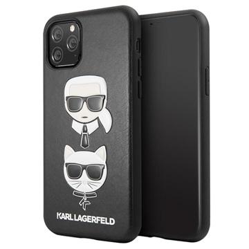 Karl Lagerfeld Karl & Choupette iPhone 11 Pro Hülle - Schwarz
