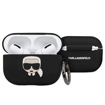 Karl Lagerfeld AirPods Pro Silikonhülle - Schwarz