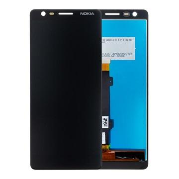 Nokia 3.1 LCD Display - Schwarz