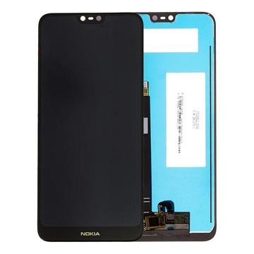 Nokia 7.1 LCD Display - Schwarz