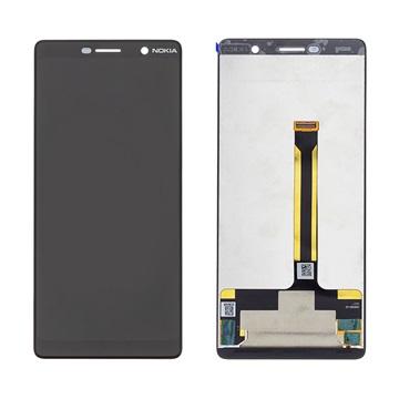 Nokia 7 Plus LCD Display 20B2N0W0001 - Schwarz