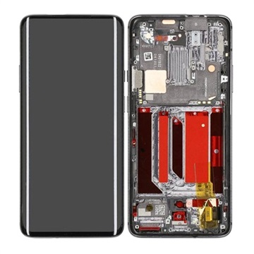 OnePlus 7 Pro Oberschale & LCD Display 2011100059 - Mirror Grey