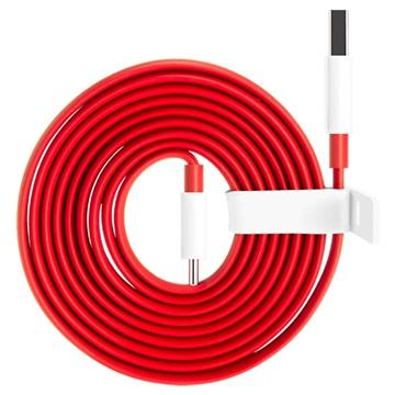 OnePlus Warp Charge Typ-C Kabel 5461100012 - 1.5m - Rot / Weiß