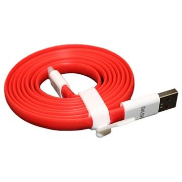 OnePlus USB-Typ-C-Kabel - Rot / Weiß - 1,5m