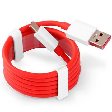 OnePlus USB-Typ-C-Kabel - Rot / Weiß