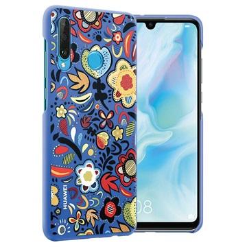 Huawei P30 Lite Colorful Hülle 51993074 - Blaue Blumen