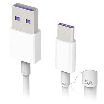 Huawei HL1289 SuperCharge USB Typ-C Kabel - 1m - Weiß