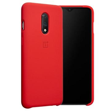 OnePlus 7 Silikon Schutzhülle 5431100087 - Rot