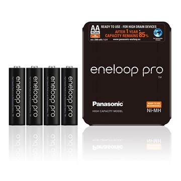 Panasonic Eneloop Pro Wiederaufladbare AA Batterien BK-3HCDE/4LE - 250