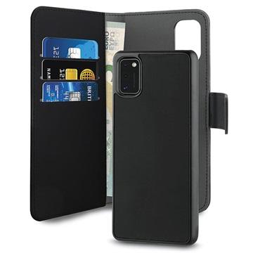 Puro 2-in-1 Magnetische Samsung Galaxy A41 Wallet Hülle - Schwarz