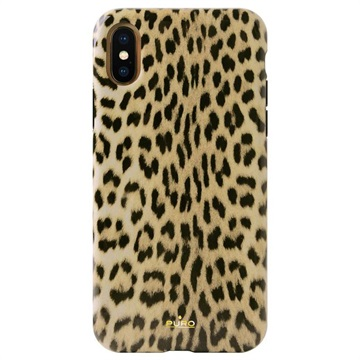 Puro Leopard iPhone X / iPhone XS Hülle - Schwarz / Leopard