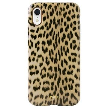 Puro Leopard Anti-Shock iPhone XR Hülle - Schwarz / Leopard