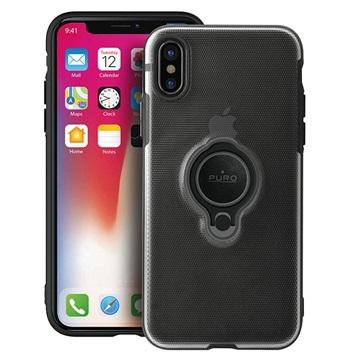 iPhone X Puro Magnet Ring Hülle - Schwarz