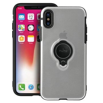 iPhone X Puro Magnet Ring Hülle - Durchsichtig