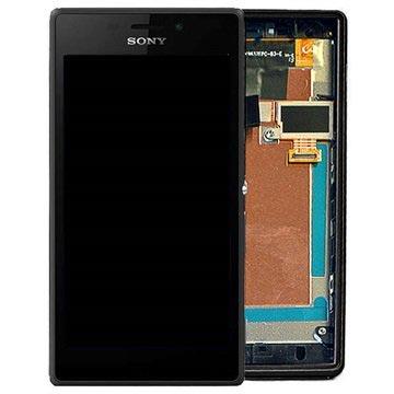 Sony Xperia M2 Aqua Oberschale & LCD Display - Schwarz