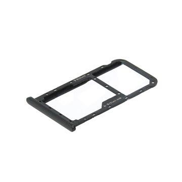 Huawei Mate 10 Lite SIM & MicroSD Karten Halter (51661GMM) - Schwarz