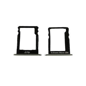 Huawei P8 Lite SIM & MicroSD Karten Halter - Schwarz