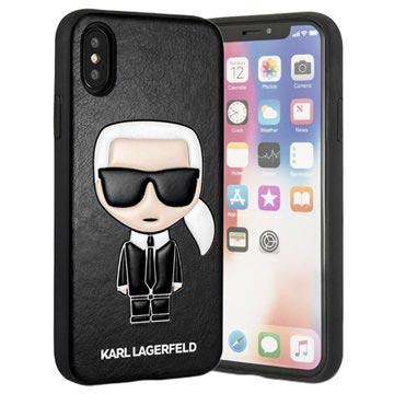 Karl Lagerfeld Ikonik iPhone X / iPhone XS Hülle - Schwarz