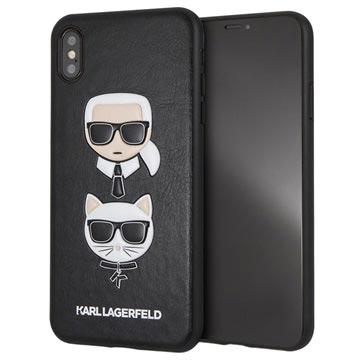 Karl Lagerfeld Karl & Choupette iPhone XS Max Hülle - Schwarz