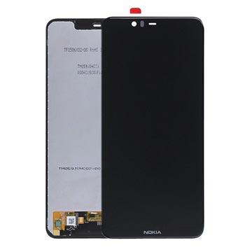 Nokia 5.1 Plus LCD Display 20PDABW0002 - Schwarz