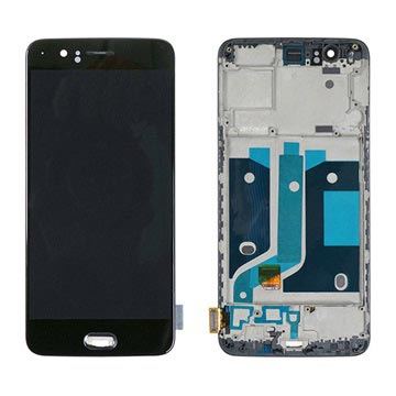 OnePlus 5 Oberschale & LCD Display - Schwarz
