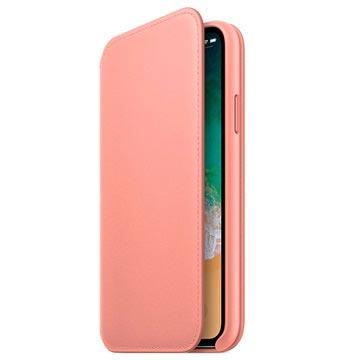 iPhone X Apple Leder Folio Case MRGF2ZM/A - Zartrosa