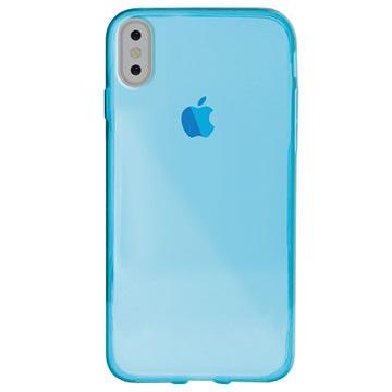 iPhone X / iPhone XS Puro 0.3 Nude TPU Hülle - Blau