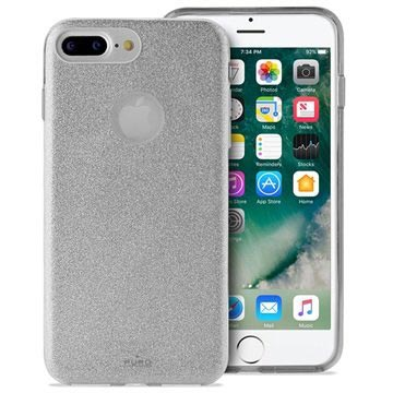 iPhone 7 Plus / iPhone 8 Plus Puro Glitter Handyhülle - Silber