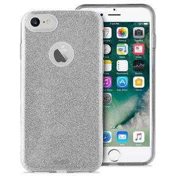 iPhone 6/6S/7/8 Puro Glitter Handyhülle - Silber