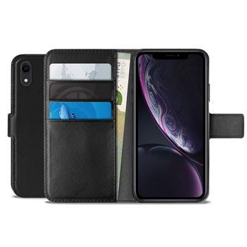 Puro Milano iPhone XR Schutzhülle mit Geldbörse - Schwarz