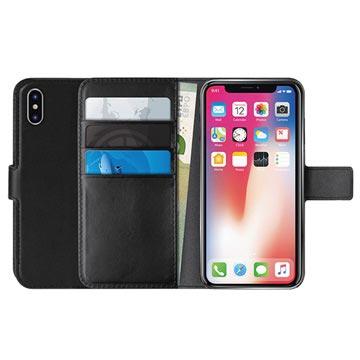Puro Milano iPhone XS Max Schutzhülle mit Geldbörse - Schwarz
