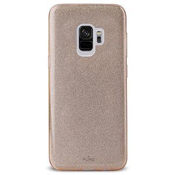 Samsung Galaxy S9 Puro Shine Glitter Silikon Hülle - Gold