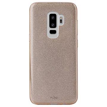 Samsung Galaxy S9+ Puro Shine Glitter TPU Hülle - Gold