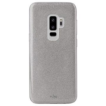 Samsung Galaxy S9+ Puro Shine Glitter TPU Hülle - Silber