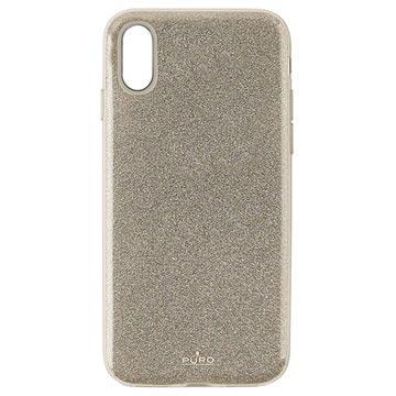 Puro Shine Glitter iPhone XR TPU Hülle - Gold