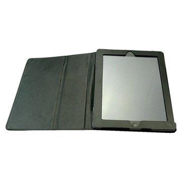 Sandberg Leder Stand Tasche - iPad 2, iPad 3, iPad 4 - Schwarz