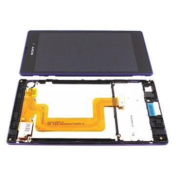 Sony Xperia T3 Oberschale & LCD Display - Purpur