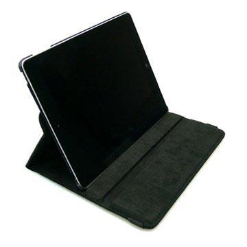 iPad Air Sandberg Rotierender Ständer Leder Hülle - Schwarz