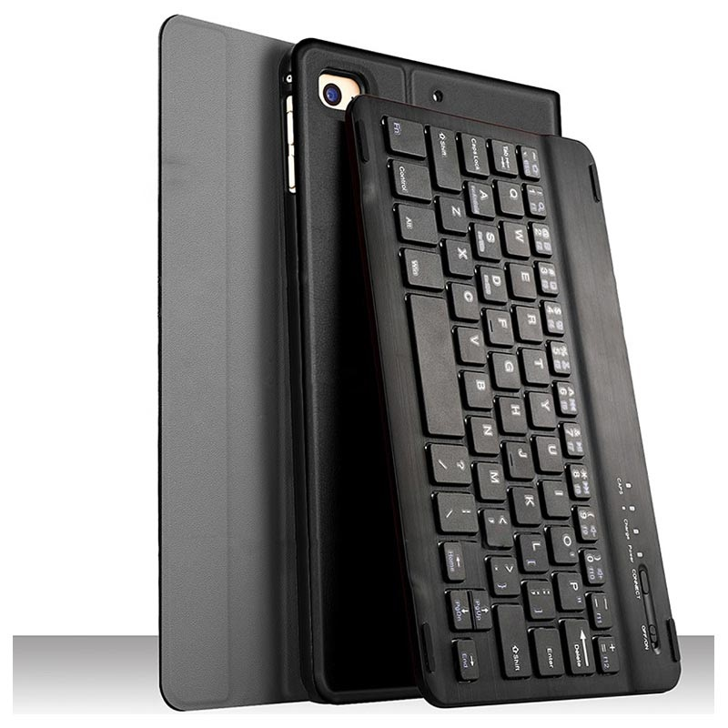 iPad Mini (2019) 2-in-1 Bluetooth Tastatur / Folio Case - Schwarz