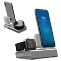 3-in-1-Ladestation aus Aluminiumlegierung - iPhone, Apple Watch, AirPods - Grau
