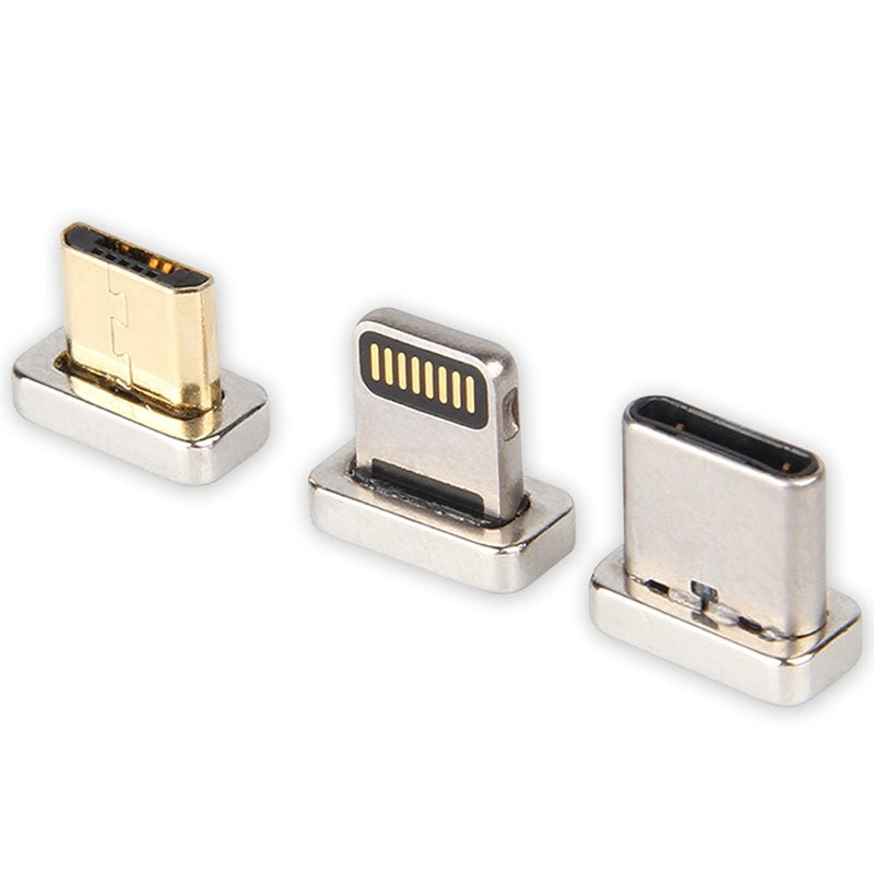 3-in-1 Magnetisches Kabel - Lightning, MicroUSB, Typ-C