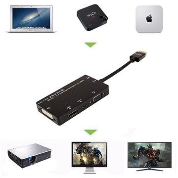 4-in-1 HDMI / DVI, VGA, 3.5mm Audio, HDMI Adapter