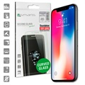 iPhone X / iPhone XS 4smarts Curved Glass Displayschutz - Schwarz